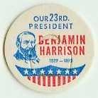 Benjamin Harrison 23rd PRESIDENT MILK BOTTLE CAPS pLs23S Quantities Available read more . . . .