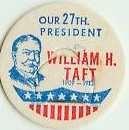 William H. Taft 27th PRESIDENT MILK BOTTLE CAPS pLs27--Quantities Available read more . . . .