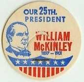 WILLIAM McKINLEY 25th PRESIDENT MILK BOTTLE CAPS, Historical, p25L read more . . . .