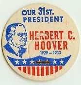HERBERT C. HOOVER 31ST PRESIDENT MILK BOTTLE CAPS Historical �p31-read more . . . .
