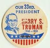HARRY S. TRUMAN 33rd PRESIDENT MILK BOTTLE CAPS  Historical  p33L read more . . . .