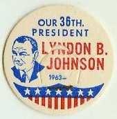 LYNDON B. JOHNSON 36th LBJ PRESIDENT MILK BOTTLE CAPS Historical �p36L -read more . . . .