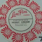 LONE PINE FARMS, NJ, HEAVY CREAM, MILK BOTTLE CAP, Mc7-Quantities available read on