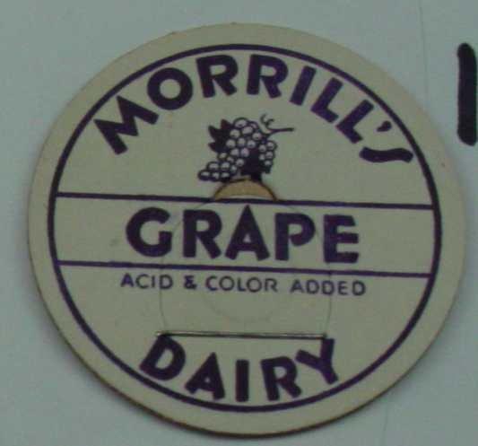 MORRILLS DAIRY, GRAPE, MILK BOTTLE CAP, Mc16-Quantities available read on