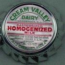 Cream Valley Dairy, NJ, Silver Aluminum Cap,  MILK BOTTLE CAP, Mc27-Quantities avail read on