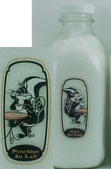 PEPE & PENELOPE THE LOVING COUPLE DRINKING MILK only 7,128 made by WB PS/Q MB p-50