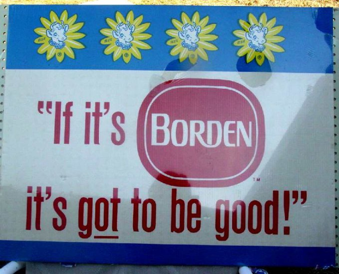 ELSIE BORDEN CARDBOARD SIGN 36� by 29� Mint ncs-100
