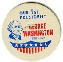 GEROGE WASHINGTON, 1st PRESIDENT MILK BOTTLE CAPS 51mm, Historical - p1M read more . . . .