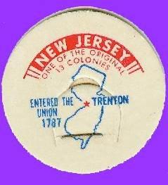 NJ State Milk Bottle Cap RARE SIZE sc28M