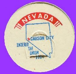 Nevada State Milk Bottle Cap RARE SIZE sc27M