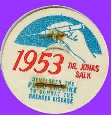 Dr. Jonas Salk, 1953 Historicak Milk Bottle Cap sc24