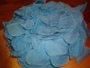 Vintage Baby Blue Floral Ladies Hat