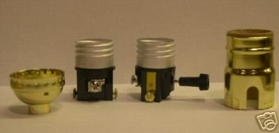 Turn-knob off-on sockets for wiring lamp  TR-39