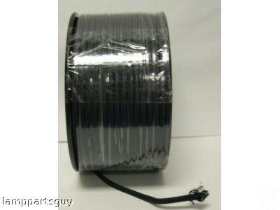 Lamp parts: black rayon lamp cord $1 a foot (TR-924)