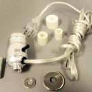 Lamp parts:silver pre-wired bottle kits w/ 3 adapters                      BK-S4