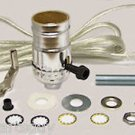 lamp parts- silver lamp kits - do your own  TD-397X off/on socket