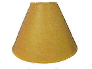 """Lamp shades: 14"""" rustic oiled kraft lamp shades no lace"""