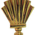 Lamp parts: POLISHED BRASS FAN LAMP SHADE FINIAL