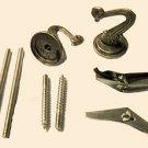 Lamp parts: antique brass hook sets                TD-102