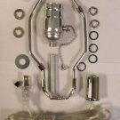 """lamp parts- lot of 10  silver kits - off/on pull-chain, 7"""" harp, neck TD-397PC"""