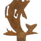 RUSTIC METAL FISH LAMP SHADE FINIAL  TF-13