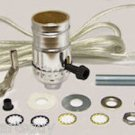 lamp parts- silver lamp kits - do your own: 8' silver cord/off/on skt  TD-397X