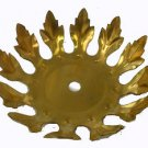 """Lamp parts: unfinished solid brass leaf  4 3/4"""" wide        #TH-682"""