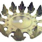 """Lamp parts: raw metal leaves 4 1/2"""" wide        #TH-563X"""