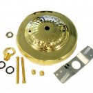 Embossed brass canopy kit for chandeliers    TD-391