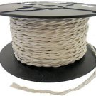 LOT OF 50 FT WHITE TWISTED RAYON WIRE 18 GA 2-WIRE VINTAGE-STYLE FREE SHIPPING