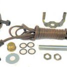 antique brass-plated lamp kits: 3-way sockets, 12' brown cord         TD-401XX