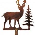 Rustic steel deer lamp shade finial  RF-1