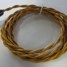 8' TWISTED GOLD RAYON CORD WITH PLUG