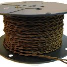 LOT OF 50 BROWN TWISTED RAYON WIRE- 18 GAUGE 2-WIRE VINTAGE-STYLE