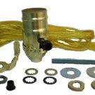 """Lot of 12: lamp part kits - gold cord, 3-way socket, 9"""" harp  TD-396 Gold"""