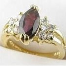Genuine Garnet Diamond CZ Ring size 12