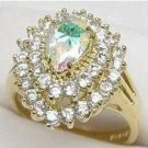 Aurora Borealis Diamond CZ Ring size 8
