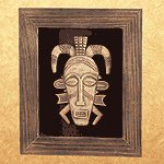 African Mask Wall Plaque