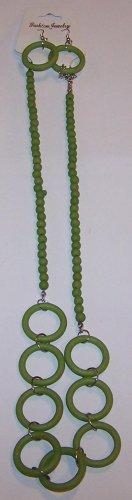 Green Hoop Necklace
