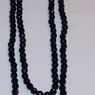 Black Beaded Cross Necklace