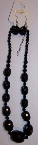 Textured Black Necklace