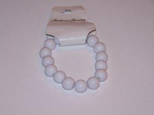 White Beaded Bracelet