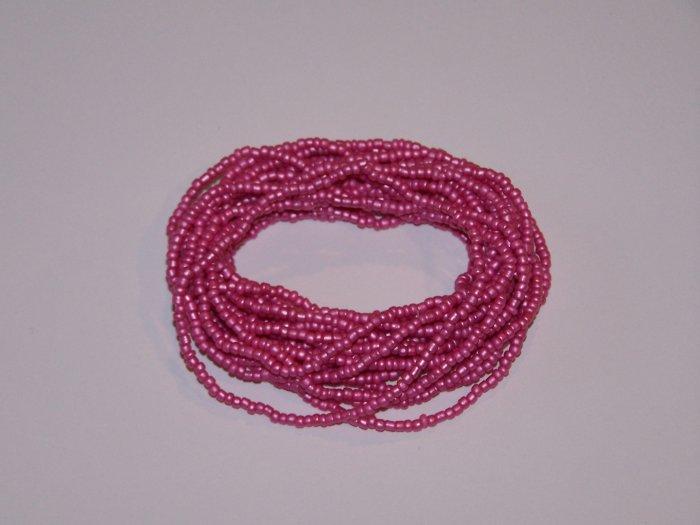 20 Pink Beaded Bracelets