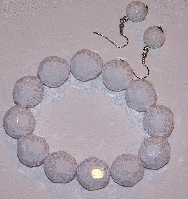 White Textured Bracelet