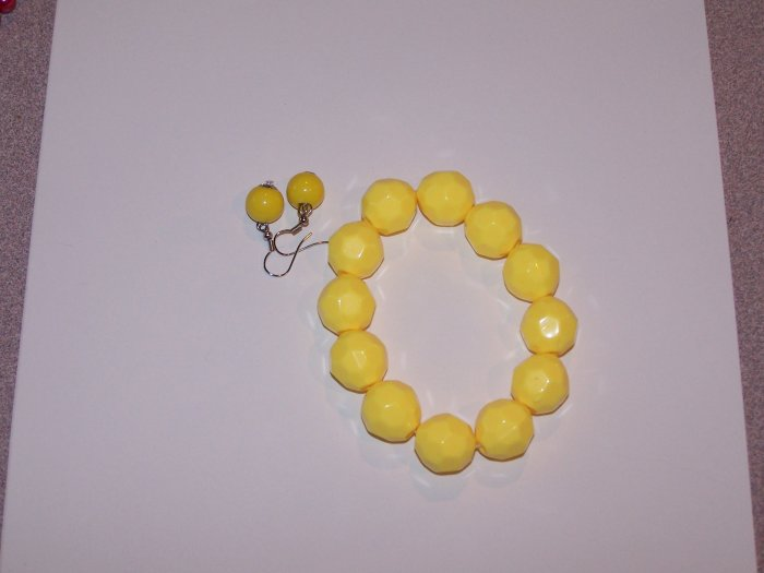 Yellow Textured Bracelet