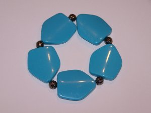 Blue Large Beaded Bracelet