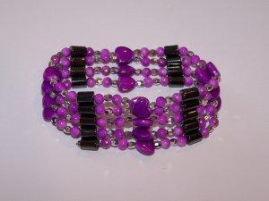 Pink Heart Magnetic Bracelet