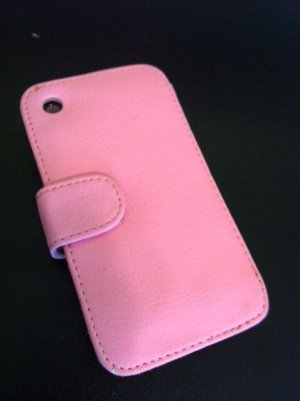 Soft Flip Leather Case Cover for Apple iPhone 3G 3GS Pink
