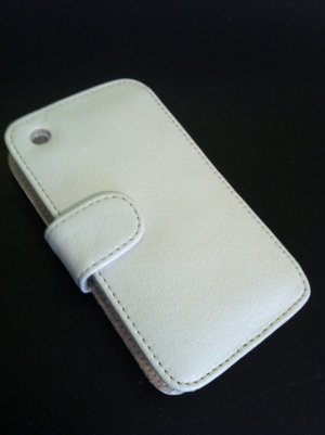 Soft Flip Leather Case Cover for Apple iPhone 3G 3GS White