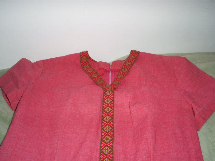 Pink Indian Vintage Dress